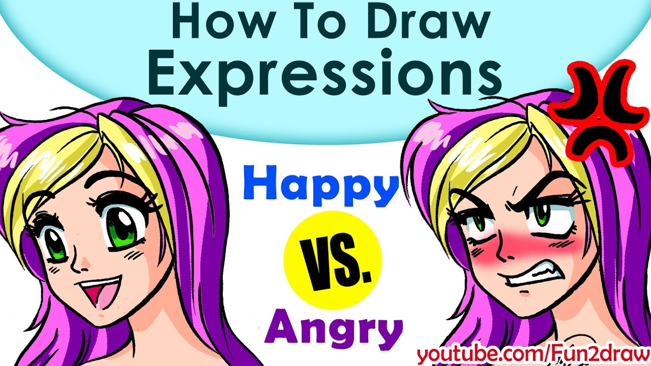 How To Draw A Face 2 Anime Manga Expressions Fun2draw