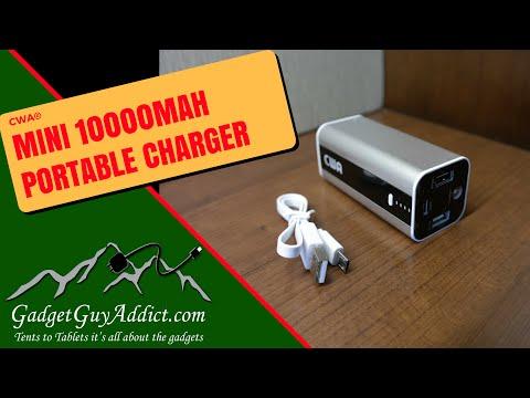 CWA Mini 10000mAh Portable Charger External Battery Pack