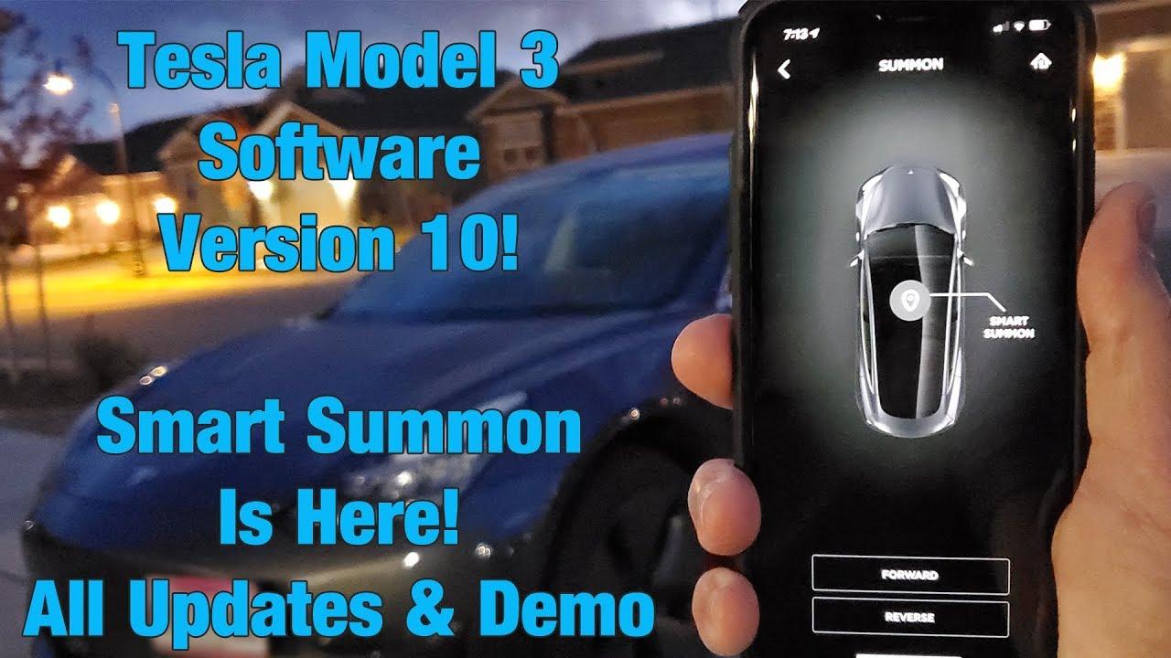 Tesla Model 3 Software Update 10 SMART SUMMON! Overview ...