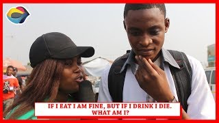 If I Eat I Live,If I Drink I Die | Street Quiz | Funny Videos | Funny African Videos