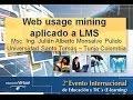 Web Usage Mining aplicado a LMS 2do Evento Internacional 2012