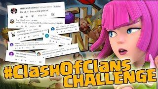 YORUMLARINIZLA CLASH OF CLANS CHALLENGE !! - Clash Of Clans
