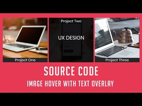 Image Hover Effect with Text overlay ( Source code )