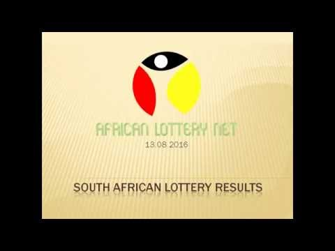 South Africa Lotto results - 13.08.2016