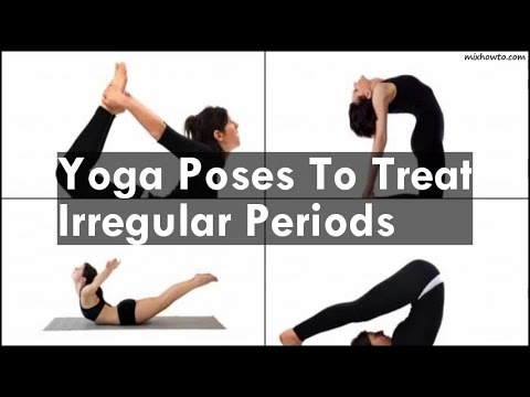 yoga poses to treat irregular periods  youtube