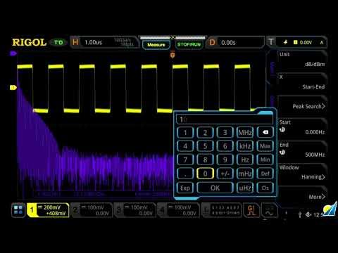 Rigol MSO5000 Oscilloscope: Spectrum Analysis Features
