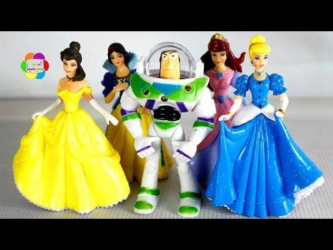 لعبة باظ يطير الحقيقى يقابل اميرات ديزنى العاب الاطفال للبنات والاولاد buzz meets Disney princesses