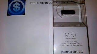 Plantronics M70 Bluetooth headset for $25 (budget friendly)