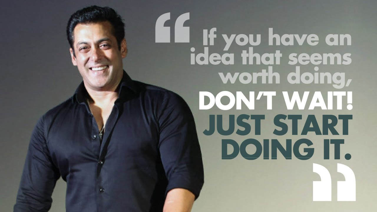 10 Profound Quotes By Salman Khan That Ll Make You Look At Life Differently Spotboye Youtube If the film is a hit then everyone shares the success. 10 profound quotes by salman khan that ll make you look at life differently spotboye