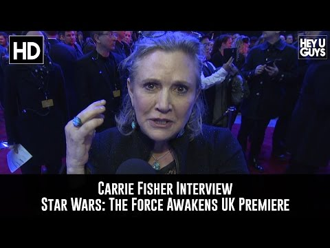 Carrie Fisher Premiere Interview: Star Wars - The Force Awakens