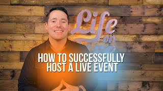 How to Successfully H๐st a Live Event
