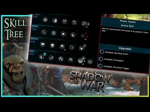 Middle Earth: Shadow of War | ALL SKILLS | Plan your build | Skill Tree Showcase