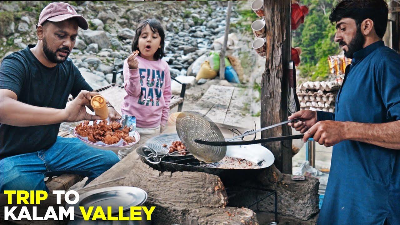 Kalam Valley Adventure   Barish aur Darya pe Lunch   Mazaidar Karhai & Trout Fish   Pakistani Food