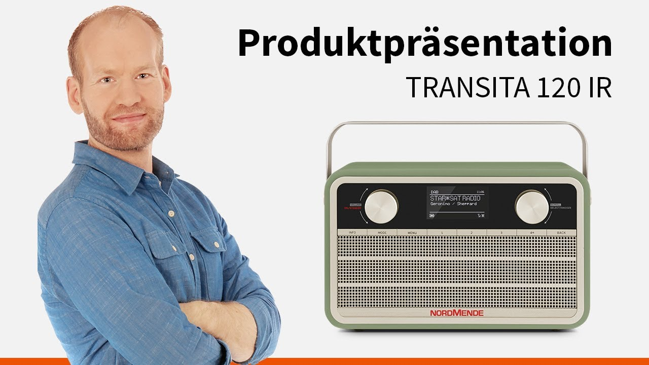 Video: Transita 120 IR | Portables DAB+/UKW Digitalradio im Retrolook mit Internet. | Nordmende