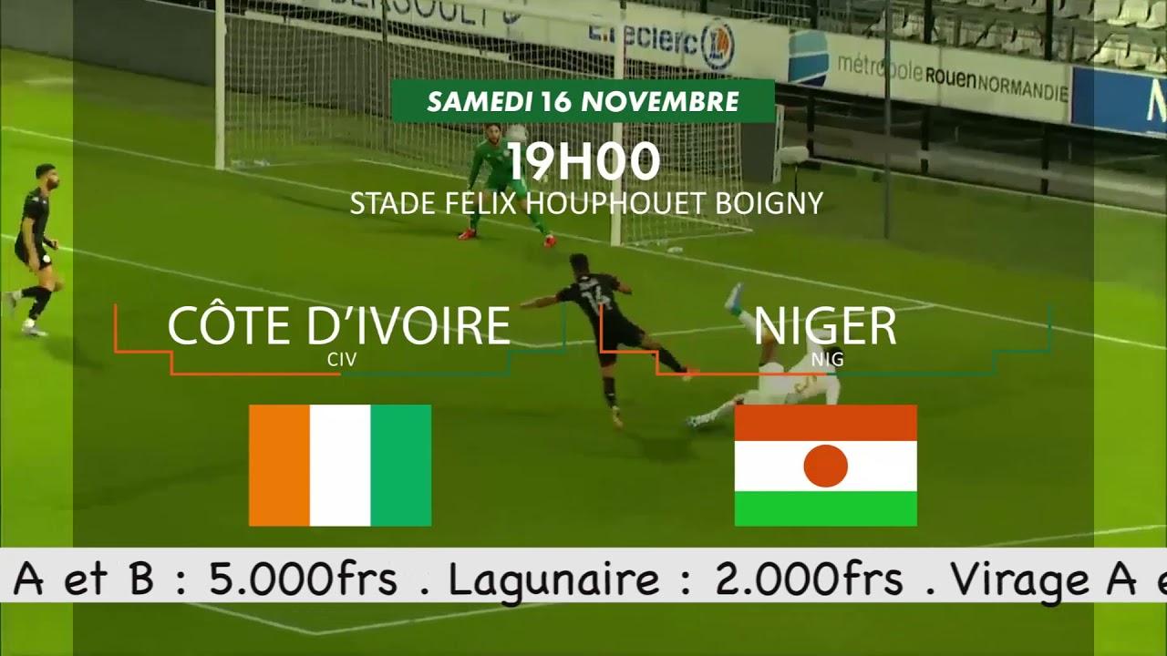 Spot Eliminatoires CAN 2021 (1ère journée) Côte d'ivoire   Niger