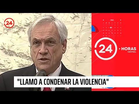 """Sebastián Piñera: """"Llamo"""