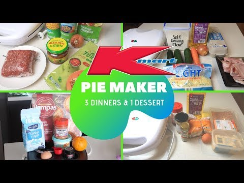 KMART PIE MAKER HACKS | QUICK AND EASY PIE MAKER RECIPES | What's For Dinner?