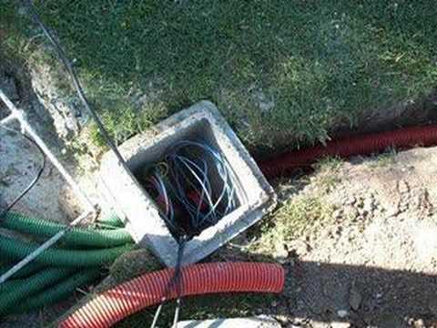 1 Tranchée et passage des câbles