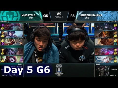 Immortals vs Longzhu Gaming   Day 5 Main Group Stage S7 LoL Worlds 2017   IMT vs LZ G2