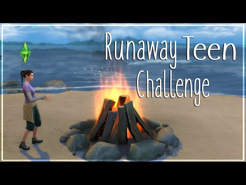 The Sims 4: Runaway Teen Challenge (Part 5) Looking For Love