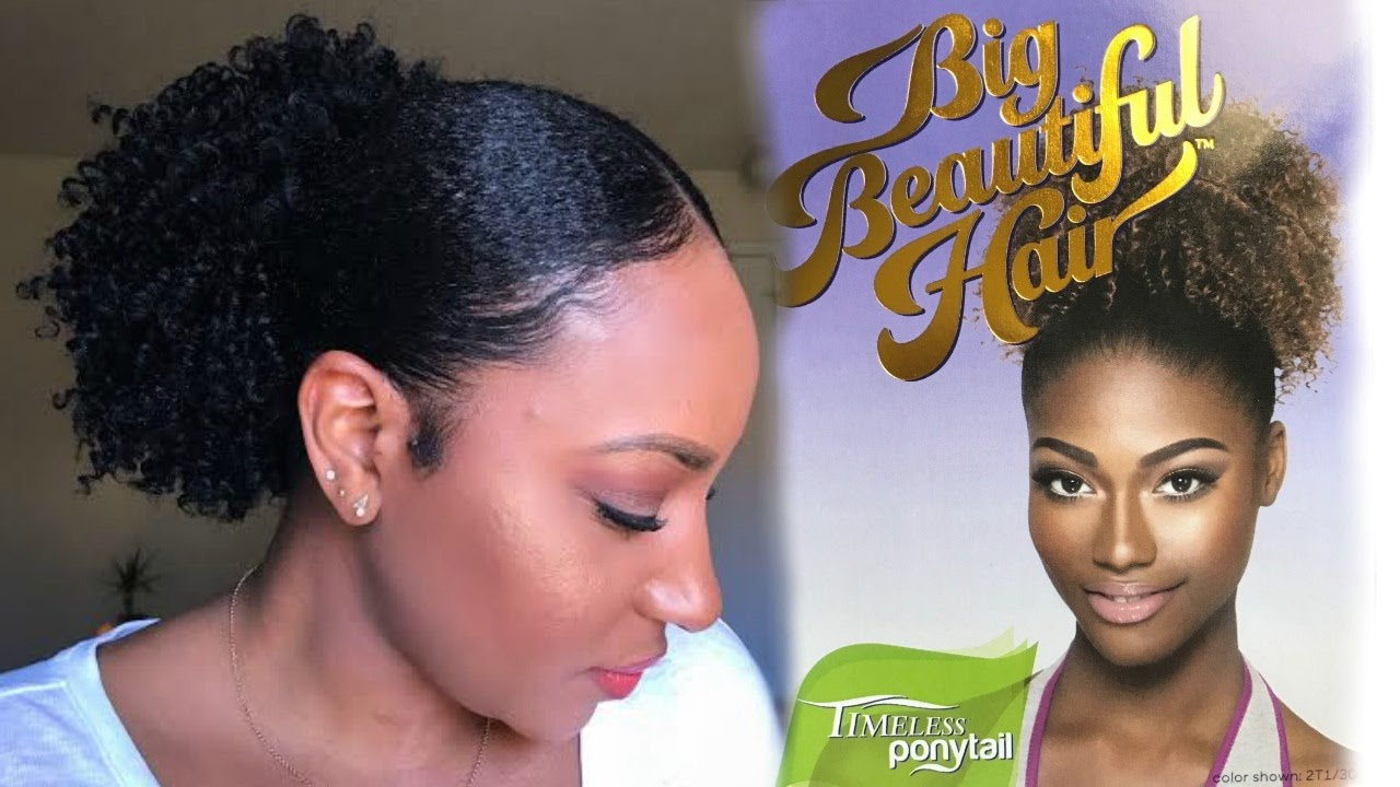 perfect sleek curly ponytail outre big beautiful hair 4a