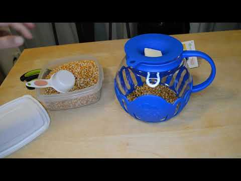 Making Popcorn With The Ecolution Micro-Pop Popcorn Microwave Popper