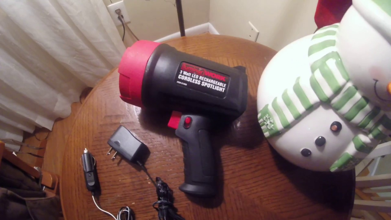 Harbor Freight Tools Flashlight Review 3 Watt