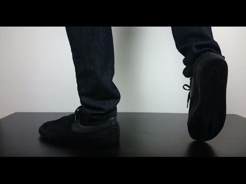 59f6f76501b NIKE SB BLAZER LOW GT black anthracite 704939 002 - YouTube