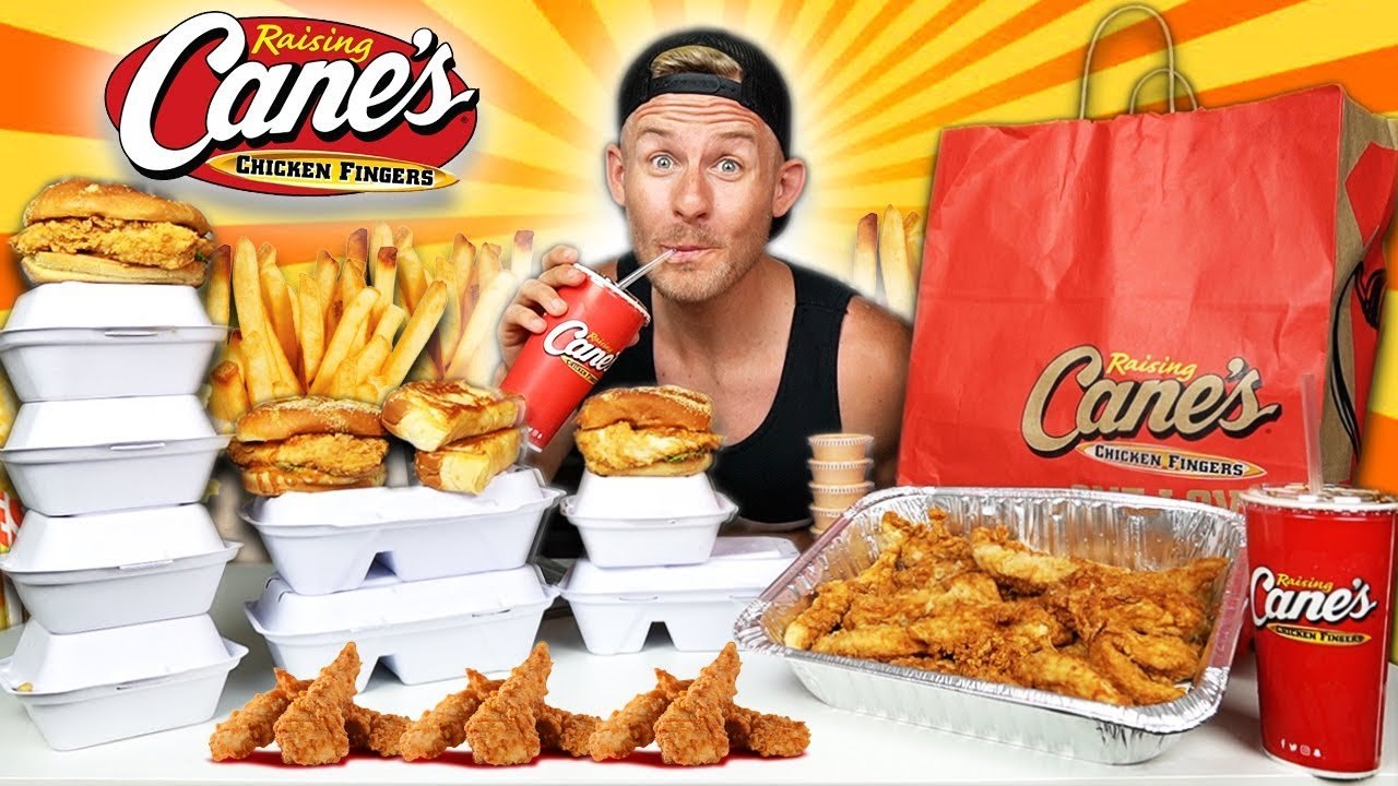 The Supercharged Raising Canes Menu Challenge 10 000 Calories Youtube