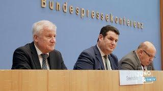 Bundesminister Seehofer, Altmaier & Heil zum