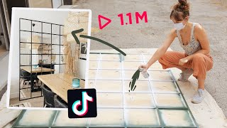 making *THAT* diy mirror we all saw on TikTok