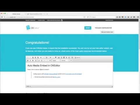 CKEditor 4 5 - Automatic Media Embedding Demo - YouTube