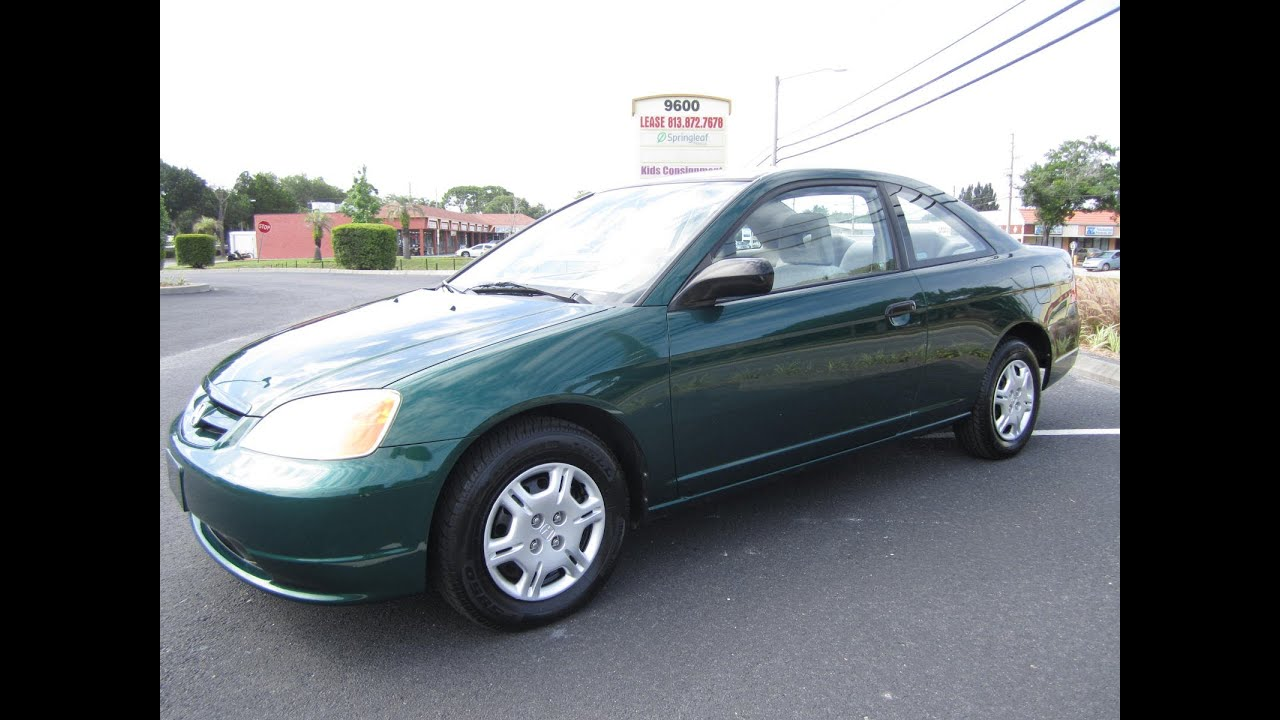 SOLD 2001 Honda Civic LX Couple Manual 5 Speed Meticulous Motors Inc  Florida For Sale   YouTube