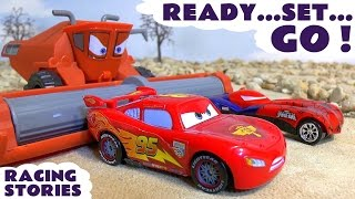 disney cars toys race and thomas and friends racing stories   mcqueen avengers spiderman family fun