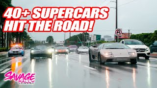 40+ SUPERCARS LEAVE MIAMI FOR THE START OF SAVAGE RALLY 2020! W/ Emelia Hartford, Alex Choi & More!