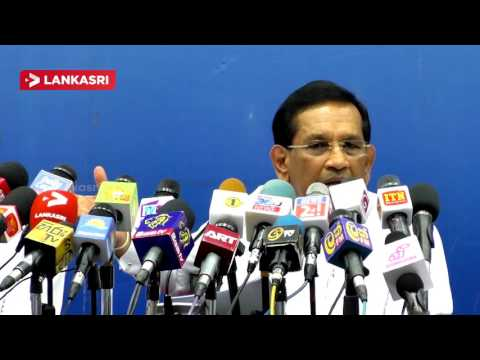 Ministry Of Health Hon.Dr.Rajitha Senaratne Press Meet In Colombo