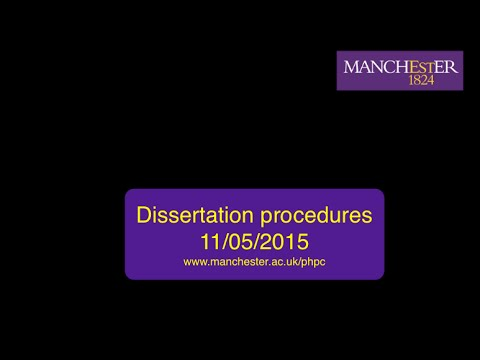 MPH Dissertation Procedures 11th May 2015