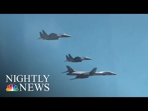 Download Youtube: U.S. Flexes Military Muscle At North Korea | NBC Nightly News