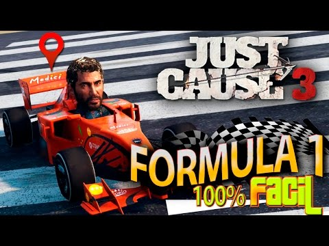TRUCO JUST CAUSE 3 FORMULA 1 100 % FACIL | COMO CONSEGUIR FORMULA 1 MUY RAPIDO JUST CAUSE 3 PS4