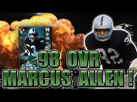 """GOT 98 MARCUS ALLEN! """"DID YOU PUT A CURSE ON MY FAMILY?!"""" - MADDEN NFL 17 ULTIMATE TEAM"""