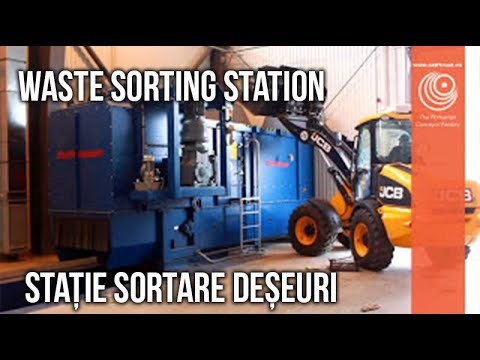 Municipal Waste Sorting Station   - Designed and Produced by Self Trust Romania