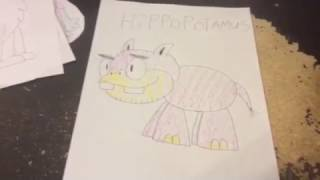 How to Draw Letters #46 - Hippopotamus (Letter H)