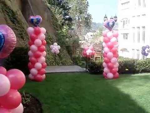 decoracin con globos princesas