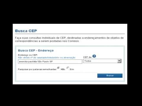 Encontrar CEP por endereço