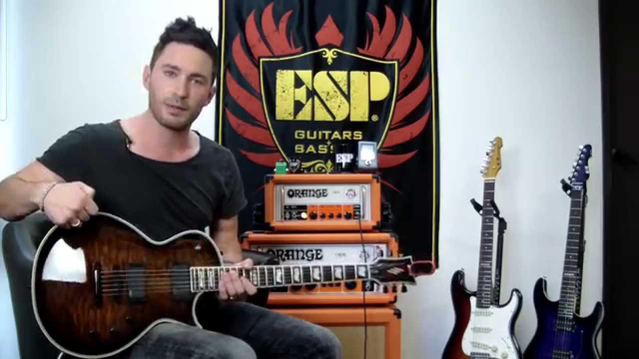 ESP Guitar Eclipse E-II Standard Demo Derek Williams EMG 81 + 60