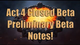 Act 4 Path of Exile The Awakening Beta Balance Notes HYPE!