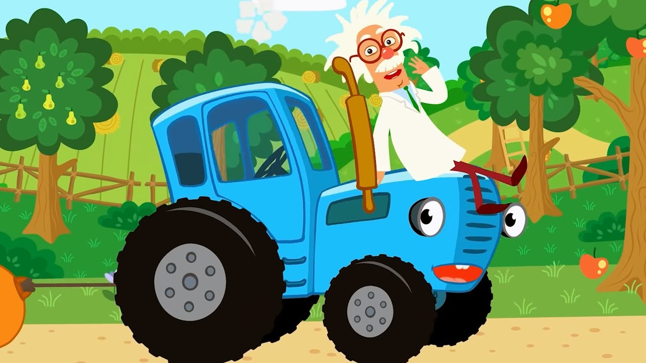 Развивающие песенки Рыбы + Птички   Мультик для детей   Машинки Грузовик   Cиний трактор