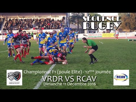 Séquence Rugby VRDR vs RCAV 11 12 2016