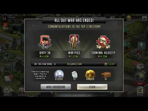War aftermath rewards!