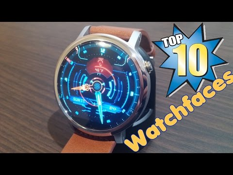 Top 10 Beautiful Watch Faces For Android Wear(Moto 360 2nd Gen)